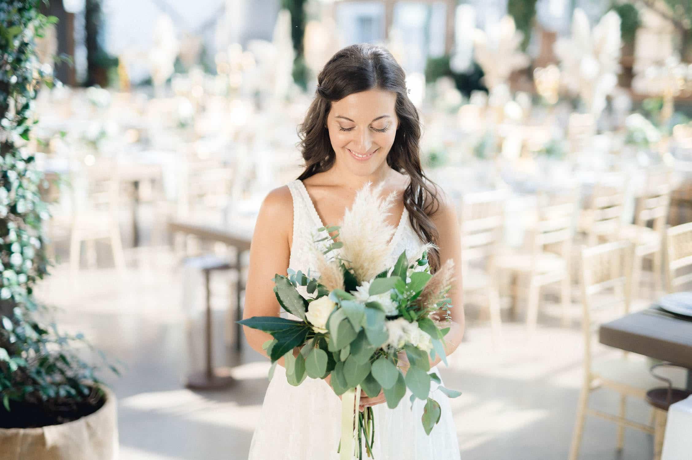 bouquet pampas sposa